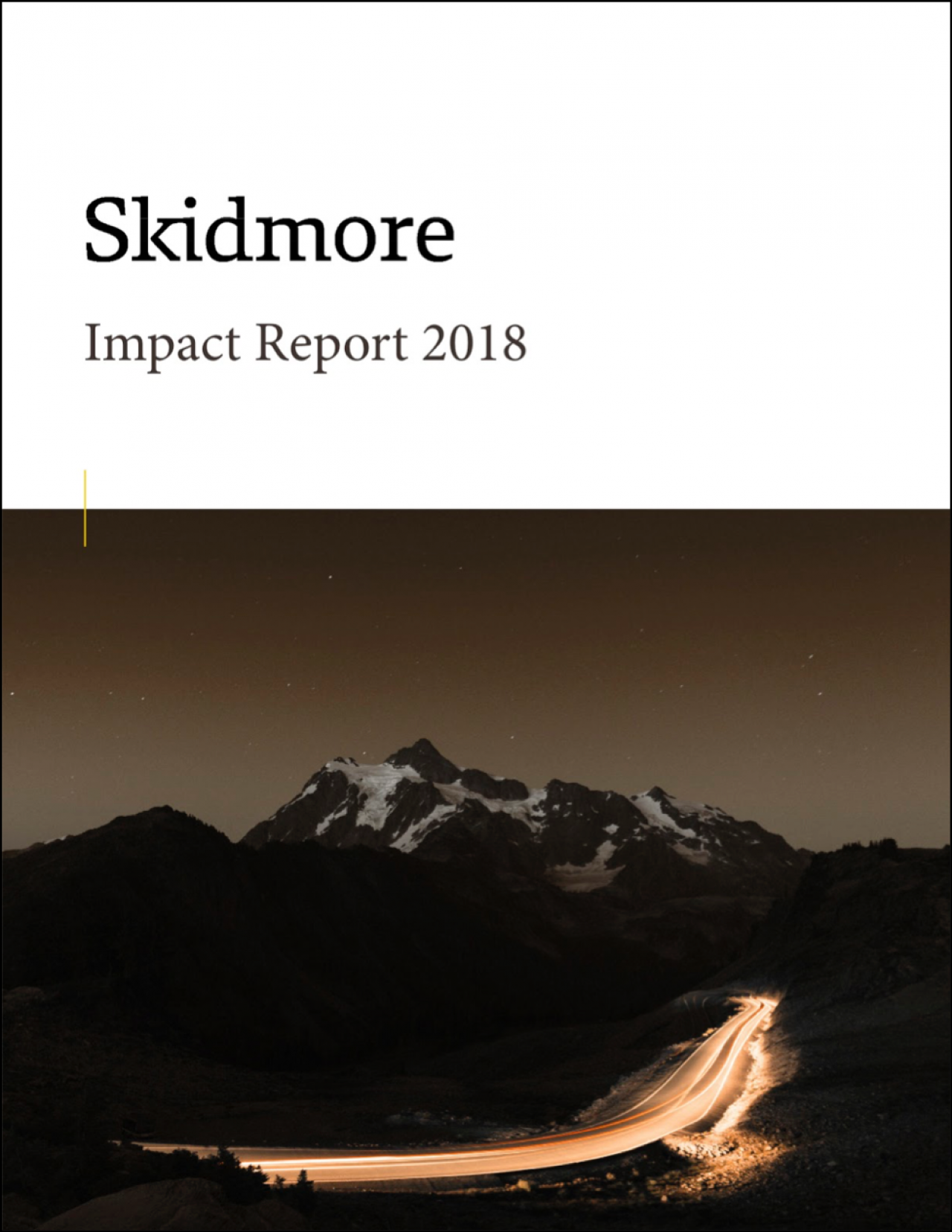 Skidmore Impact Report 2018 With Outline